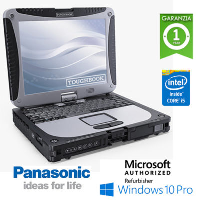 "Notebook Panasonic Toughbook Rugged CF-19 Core i5-3320M 4Gb 500Gb 3G 10.1"" Touch SERIALE Win 10 Professional"